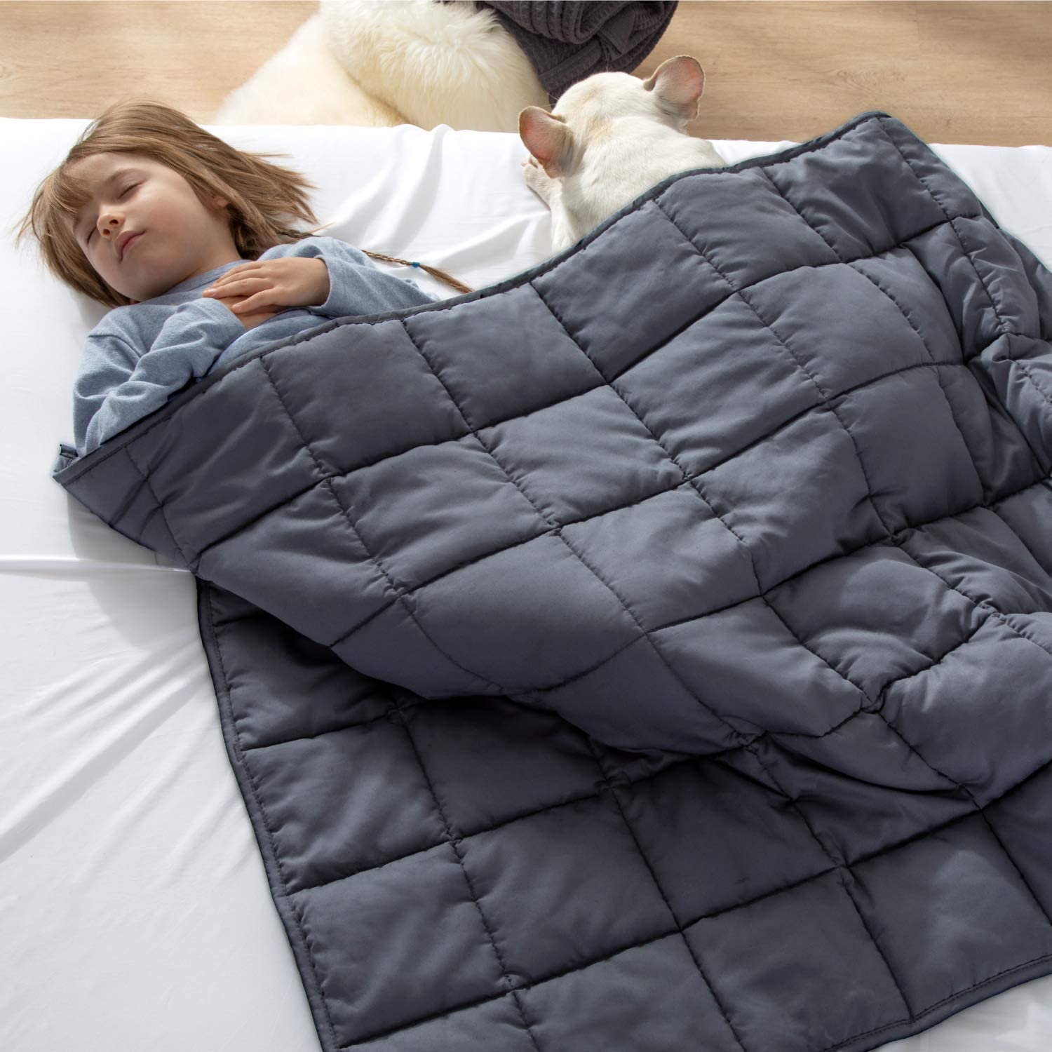 """41""""x60/"""" 7lbs Weighted Blanket Full Sensory Therapy Deep Sleep Anxiety Relief Kid"""