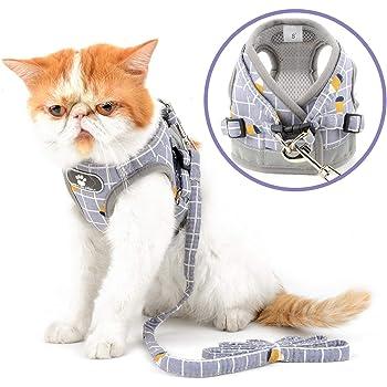 Pink, S Padded Kitten Vest fushida Adjustable Kitten Harness with Leash Kitten Escape Proof Walking Jackets