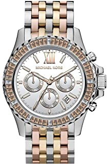 Michael Kors Everest Watch for Women - Analog Stainless Steel Band - MK5876