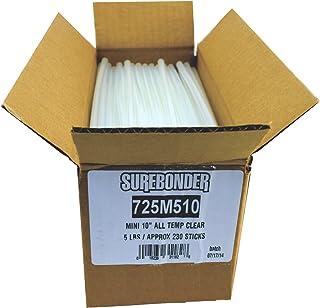 Surebonder 725M510 Mini All Temperature Hot Melt Glue Sticks, 10-Inch 5-lbs