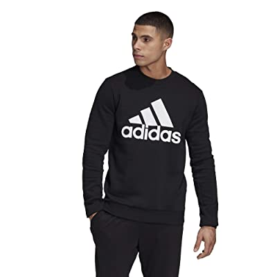 adidas Must Have Badge of Sport Crew Neck Fleece (Black) Men