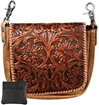 Handcrafted Leather Bundle - 4 in 1 Clutch Crossbody Belt Bag Coin Pouch Key Fob