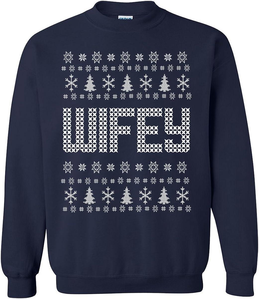 zerogravitee Wifey Ugly Holiday Sweatshirt Crewneck Sweatshirt