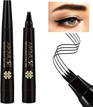 Lusucat Eyebrow Tattoo Pen Waterproof Microblading Eyebrow Pencil with a Micro-Fork Tip Applicator Creates Natural Looking Brows Effortlessly