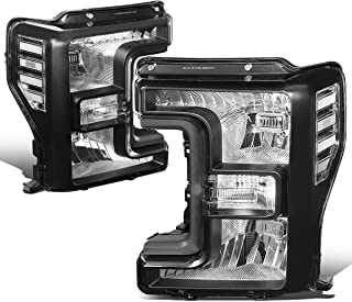 DNA MOTORING HL-OH-F25018-BK-CL1 Pair Factory Style Front Driving Headlight Lamp Set Replacement