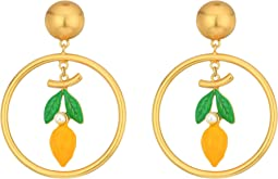 Tory Burch - Lemon Hoop Earrings