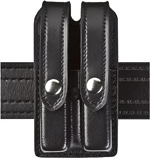 Safariland Duty Gear Slimline Double Magazine Pouch with Flap Plain Black Glock 17, 22, 34, 34; Sig P229