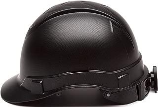 Cap Style Hard Hat, Adjustable Ratchet 4 Pt Suspension, Durable Protection safety helmet, Black Matte Graphite Pattern Design, by AcerPal