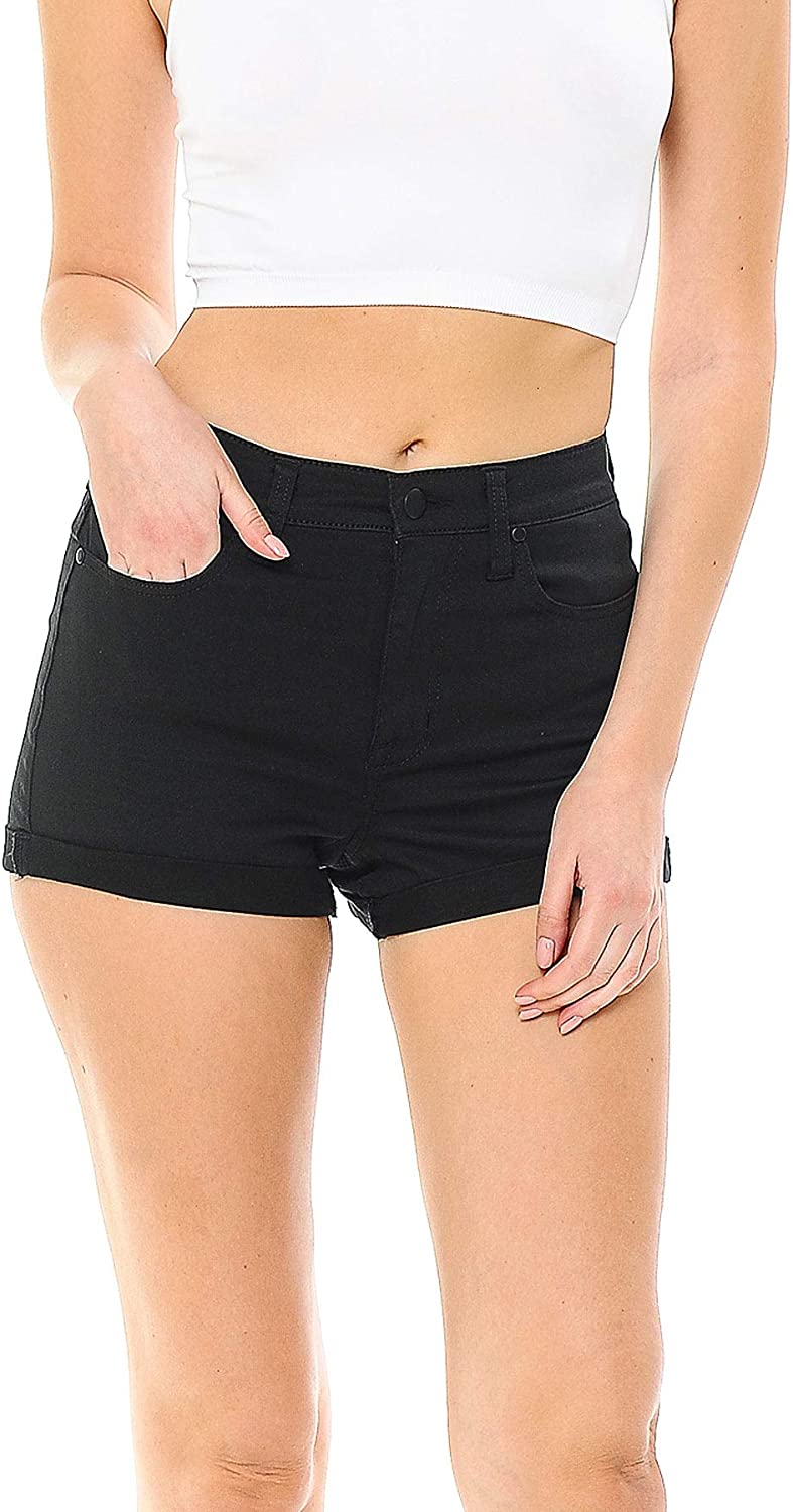 New color New color Celebrity Pink Women's Juniors Design Casual Shorts Cuffed