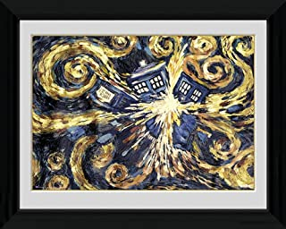iPosters Doctor Who Exploding Tardis - Mounted & Framed Print - 44 x 34 cm (Approx 18 x 14 Inches)