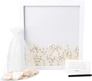 Pearhead Wedding Guestbook Token Frame, Creative Guest Book Alternatives, Wedding Shower Essentials, Wedding Decorations, White