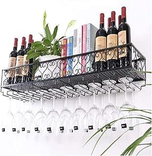 HZWLF Casier à vin, Porte-Verre à vin Domestique, Porte-Verre à vin Mural, casier à vin créatif, Porte-gobelet à l'envers,...
