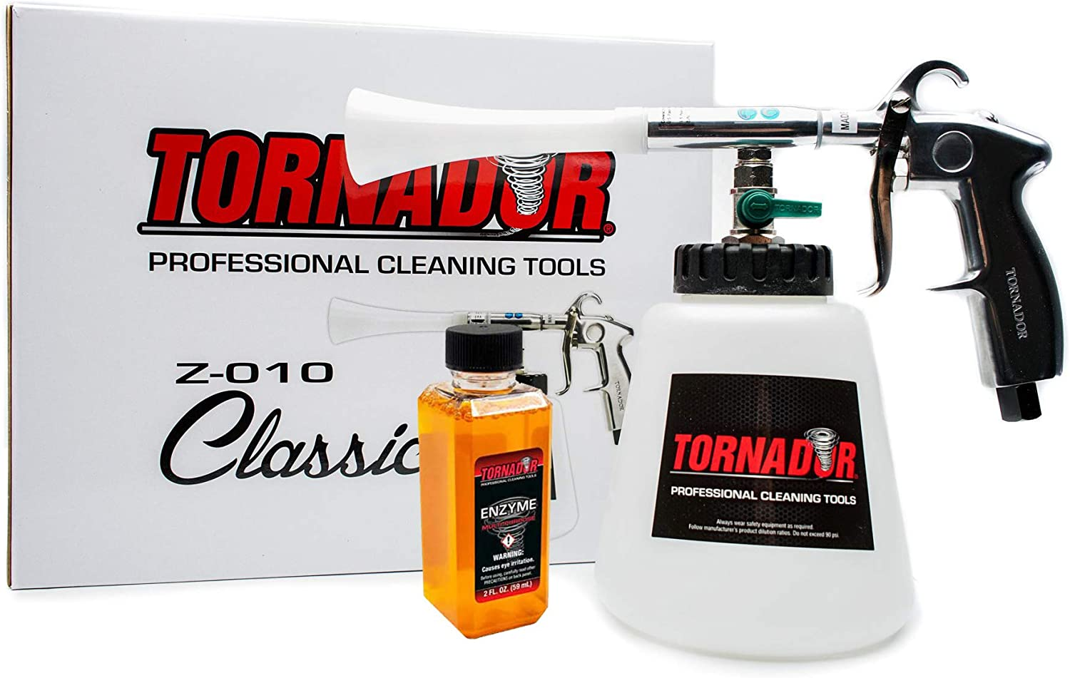 Colorado Springs Mall Tornador Z-010 Cleaning Gun Starter Enzyme Over item handling Cleaner Kit 2oz. with