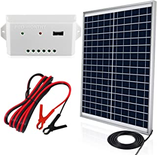 ECO-WORTHY 20 Watts 12V Solar Panel Kit: Waterproof 20W Solar Panel + USB Port Charge..
