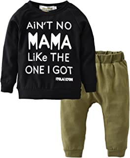 Toddler Baby Boy Letters Printed Tops Pants Leggings...