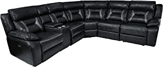 Homelegance Amite 6-Piece Power Reclining Sectional with Console and USB Port, 106