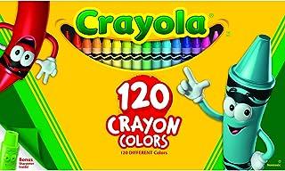 Crayola 120 Crayon Box with Sharpener, Assorted Bright, Vivid Classic Crayola Colours, Art and Craft, Kindergarten Supplie...