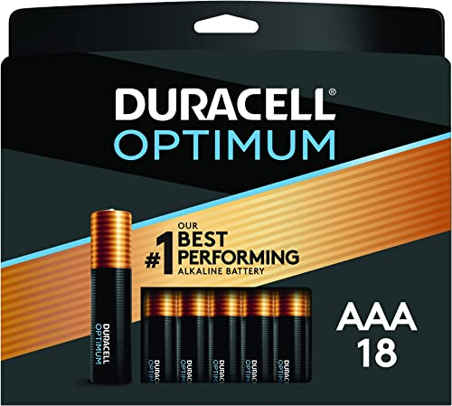 Duracell Optimum AAA Batteries | Lasting Power Triple A Battery | Alkaline AAA Battery Ideal for Household and Office...