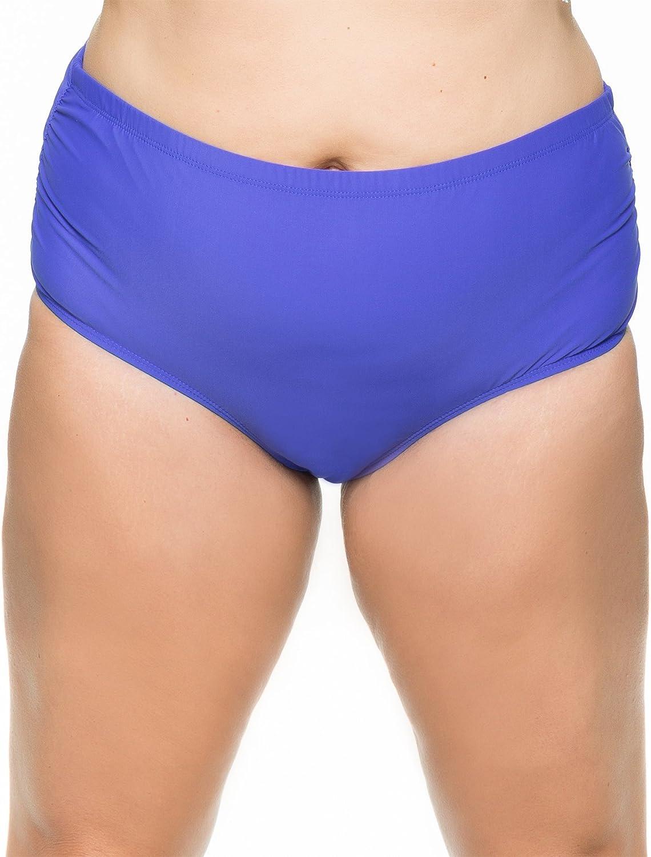 Athena Plus - Finesse Mid-Waist Shirr Side Bottom 24W Blue