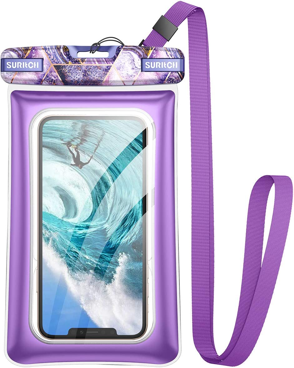 SURITCH New Universal Waterproof Phone Case,Waterproof Phone Bag Floating Phone Pouch for iPhone 12 11 Pro Max Mini XR X Xs Max Se 2020 Galaxy Note 20 S20 Ultra S10 S9 Plus Up to 6.9
