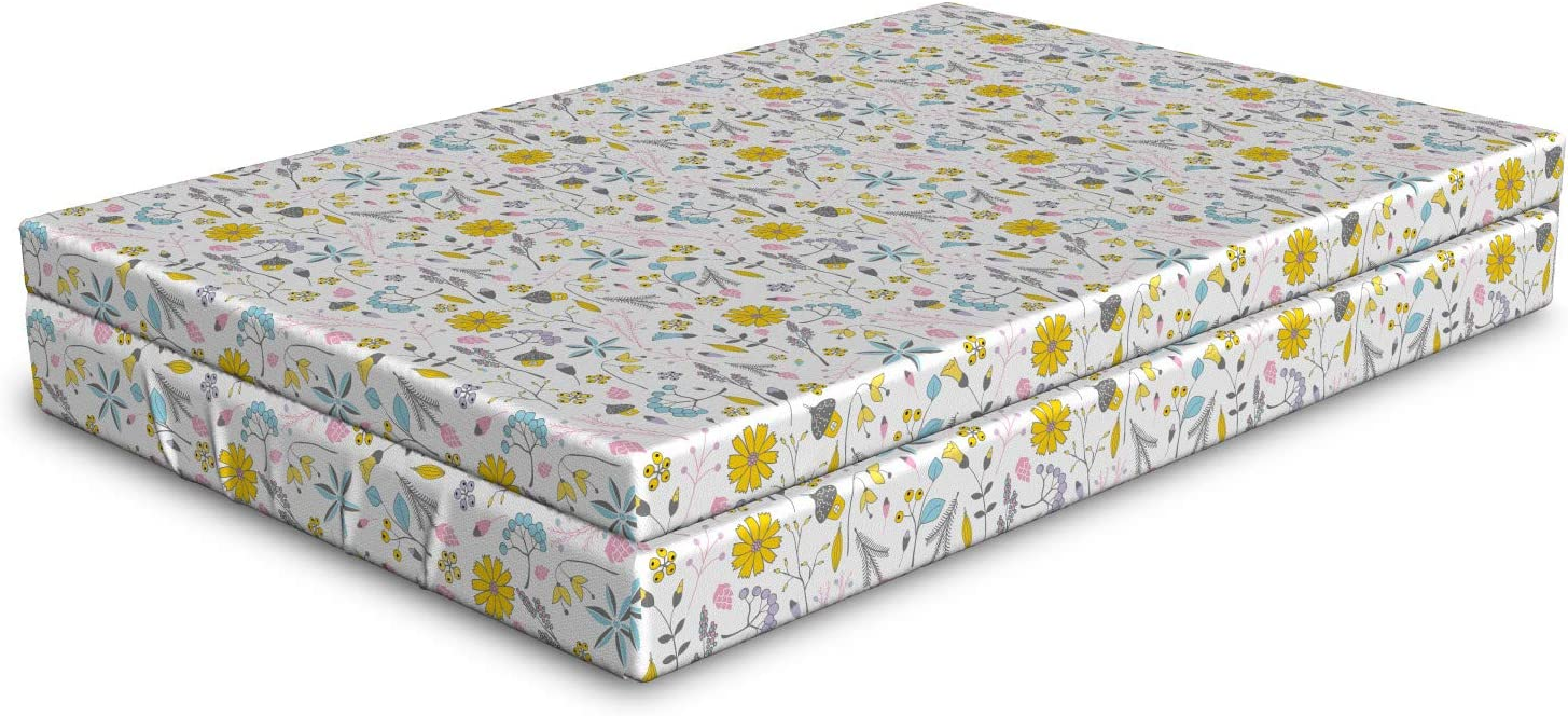 Ambesonne Cartoon All items in the store Dog Bed Spring with Flowers Pattern Happiness Max 59% OFF