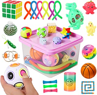 Sensory Fidget Toys Set, 27pcs Stress Relief and Anti-Anxiety Tools Bundle for Kids and Adults, Marble and Mesh, Pack of S...