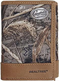 NCAA Florida Gators Realtree Nylon/Leather Trifold Concho Wallet
