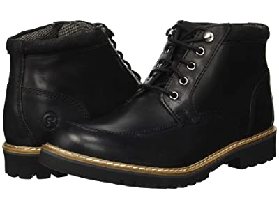 Rockport Marshall Rugged Moc Toe (Black) Men