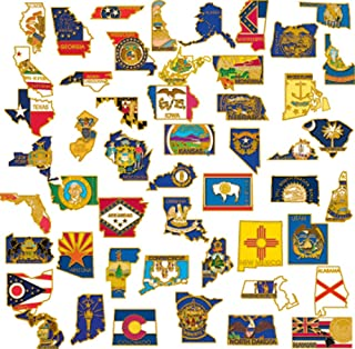 50 State Shape Enamel Lapel Pin USA Collection Value Pack