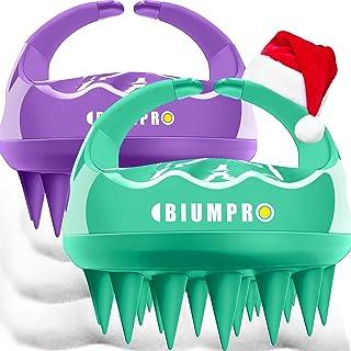 Scalp Massager, 2 Pack Scalp Brush Hair Shampoo Brush Head Scrubber [ 2020 Upgraded Version ] 100% Comfortable for All Hai...