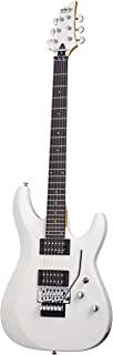 Schecter C-6 FR DELUXE Satin White Solid-Body Electric Guitar, Satin White