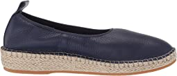 Marine Blue Leather/Natural Jute