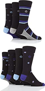 Jeff Banks Mens Stripe and Spots Cotton Socks Pack of 7