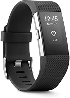 Fitbit Charge 2 Heart Rate + Fitness Wristband Black Large (Renewed)