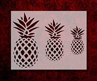 Pineapple Stencil 8.5 x 11 Inches 3 Different Size Primitive Pineapples (121)