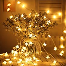 Star Fairy Lights - 70 LED 33 FT Star String Lights Waterproof for Indoor, Outdoor, Bedroom, Wedding, Party, Christmas Gar...