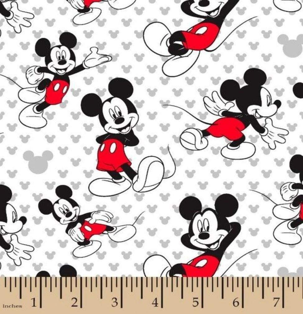 1 100% quality warranty! 4 Yard - Mickey Mouse 100% Fat Cotton Quarter Fabric Sewing San Jose Mall