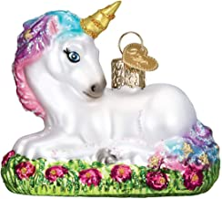 Old World Christmas Glass Blown Ornament with S-Hook and Gift Box, Other Ornaments (Baby Unicorn)