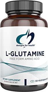 Designs for Health L Glutamine Capsules - 850mg Vegetarian Amino Acids Supplement to Support Muscle Recovery, Digestive, I...