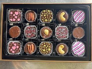 Mother's Day, Valentines, Vegan Gluten Free Dark Chocolate, Kosher Parve, 15 Piece Gift Box