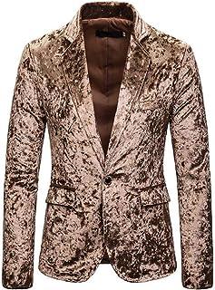 Jofemuho Men Pleuche Button Up Casual Business Long Sleeve Slim Dress Shirts