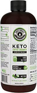 Keto Creamer with MCT Oil - 16oz / 32 Servings (Must Be Blended) - No Carb Butter Coffee Booster   Ghee Butter, Organic Coconut Oil, MCT Oil - Left Coast Performance