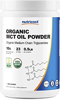 Nutricost Organic MCT Oil Powder 8oz (.5 LB) - Certified USDA Organic, Great for Keto, Ketosis and Ketogenic Diets - Zero ...