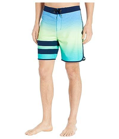 Hurley 18 Phantom Block Party Keep Cool Boardshorts (Pacific Blue) Men