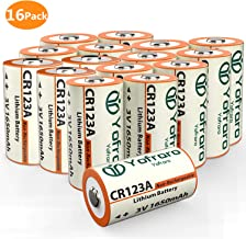 3V CR123A Lithium Batteries, Yofraro 16 Pack 1600mAh Non-Rechargeable 3 Volt Lithium CR123a Battery for arlo VMS3230 (Not The Arlo VMS3230C) Cameras, flashlights, Alarm System