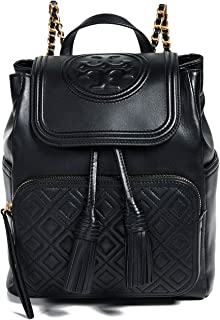 Tory Burch Women's Fleming Backpack, Black, One Size