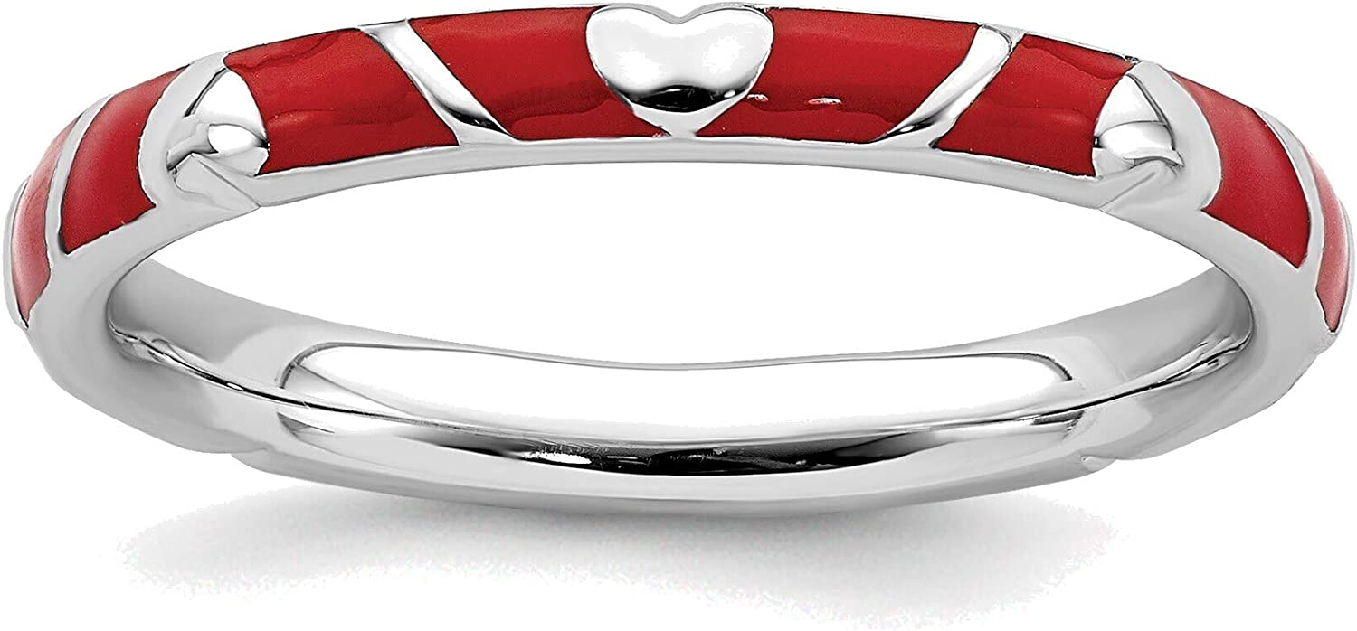 Bonyak Jewelry Solid Sterling Silver E Expressions 2021 new Red Beauty products Stackable