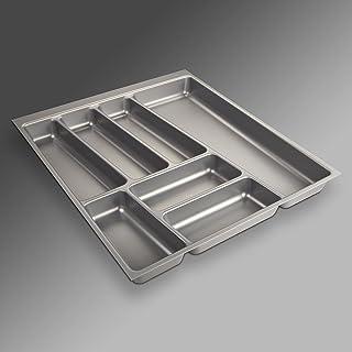 Sotech SO-Tech® Cubertero ORGA-Box® II para Cajón de Nobilia 50 cm (Cubertero: 462 x 405 mm) Color Gris Argentado