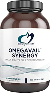 Designs for Health OmegAvail Synergy - Omega Complex for Adults - Omega 3-6-7-9 Fatty Acids from Borage and Macadamia Oil ...