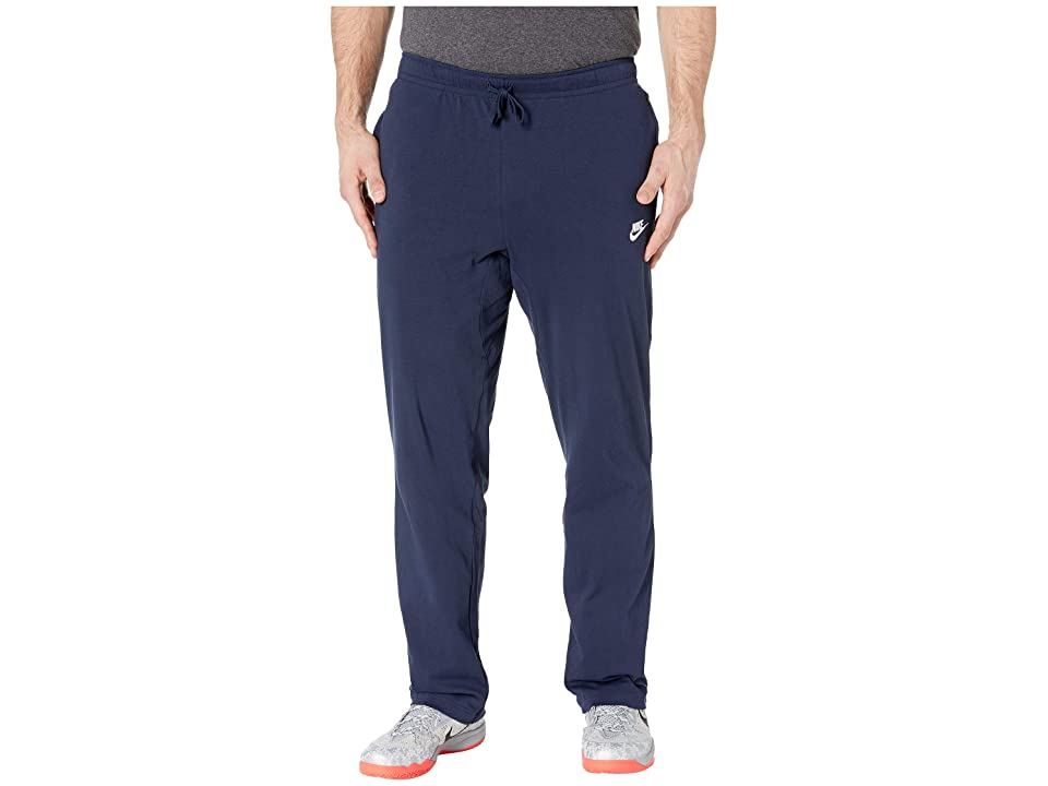 Nike Big Tall NSW Club Open Hem Jersey Pants (Obsidian/White) Men